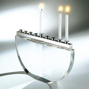 Steuben Glass Menorah