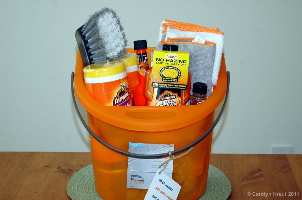 Automotive themed gift basket