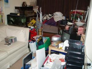 Cluttered Livingroom
